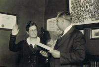 Image of Florence Allen's Swearing In as a Common Pleas Court Judge for Cuyahoga County