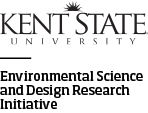 Kent State University logo with Environtmental Science and Design Research Initiative