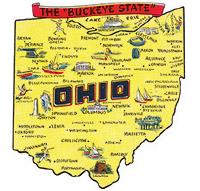Map of Ohio from Ohio History Journal banner